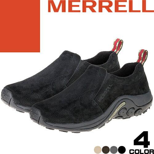 メレル ジャングルモック メンズ スニーカー スリッポン ウォーキングシューズ トレッキングシューズ 靴 黒 スエード カジュアル アウトドア 登山 おしゃれ 疲れない 通気性 滑りにくい MERRELL Jungle Moc