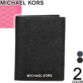 マイケルコース MICHAEL KORS パスケース パスポートケース マルチケース カードケース レディース メンズ ブランド おしゃれ かわいい 革 薄型 大容量 海外旅行 黒 紺 ブラック 32F6GTVT3L [ネコポス発送]