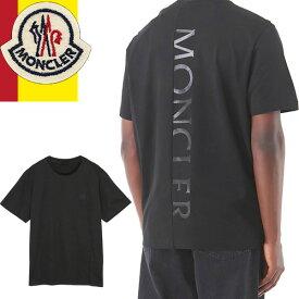 モンクレール MONCLER Tシャツ メンズ 2021年春夏新新作 半袖 クルーネック 丸首 ブランド 大きいサイズ プリント ロゴ 白 ホワイト T-SHIRT 8C72910 829HP 001 [ゆうパケ発送]