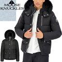 ムースナックルズ MOOSE KNUCKLES ダウン ダウンジャケット メンズ 2020年秋冬新作 スリークォータージャケット 3Q JACKET フォックスファー フード付き ブランド 大きいサイズ 暖かい 撥水 黒 ブラック MK2228M3Q