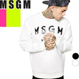 エムエスジーエム MSGM トレーナー スウェット メンズ 2019年新作 トップス 白 黒 ホワイト ブラック 大きいサイズ 綿100% ブランド おしゃれ ロゴ プリント 2640MM104 [S]