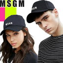 [最終SALE18,700円→11,703円] エムエスジーエム MSGM キャップ 帽子 メンズ レディース 2019年新作 ブランド ロゴ 無…