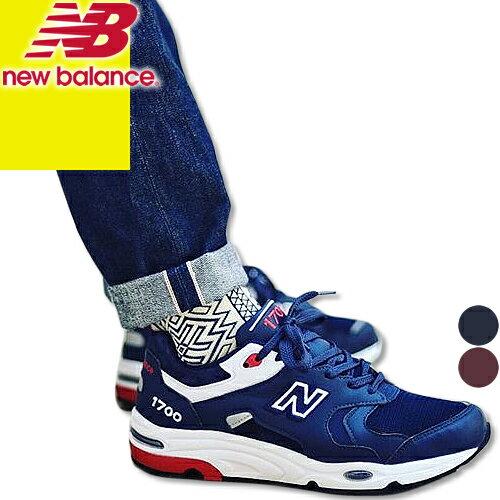 ニューバランス スニーカー メンズ ランニングシューズ ウォーキングシューズ 靴 ネイビー 赤 NEW BALANCE M1700DEA M1700CME カジュアル
