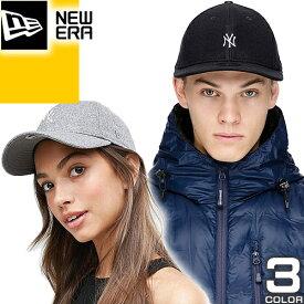 [最終SALE4,180円→3,015円] ニューエラ NEW ERA キャップ 帽子 ニューヨークヤンキース メルトン ミニロゴ ベースボールキャップ メンズ レディース ブランド 黒 ブラック ネイビー グレー 9TWENTY New York Yankees Mini Logo MELTON [メール便発送]
