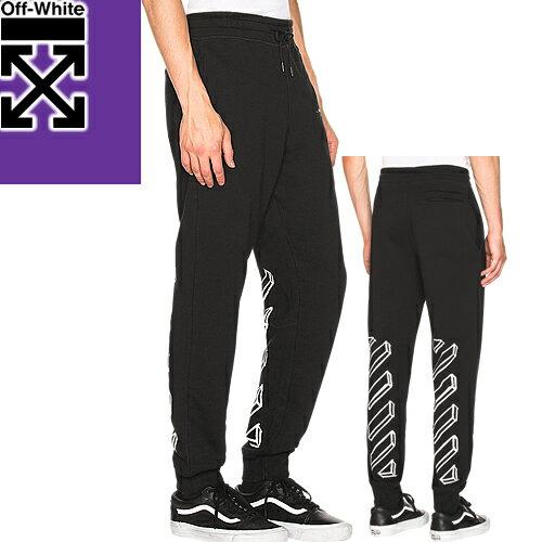 オフホワイト OFF-WHITE スウェット パンツ メンズ ブランド 大きいサイズ 黒 ブラック 2018年秋冬新作 MARKER ARROWS SWEATPANTS