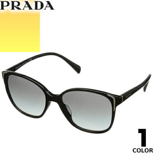 プラダ PRADA サングラス 国内正規品 レディース メンズ uvカット 黒縁 薄い色 ブランド 紫外線 ケース付き ウェリントン 01OSA 1AB3M1 [S]