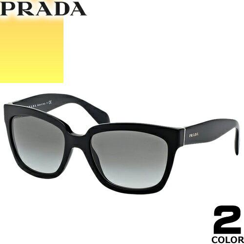 プラダ PRADA サングラス 国内正規品 レディース メンズ uvカット 黒縁 薄い色 ブランド 紫外線 ケース付き ウェリントン 07PSA 2AU6S1 1AB0A7 [S]