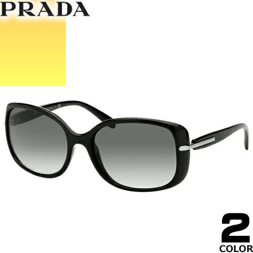 プラダ PRADA サングラス 国内正規品 レディース メンズ uvカット 黒縁 薄い色 ブランド 紫外線 ケース付き スクエア 08OS 2AU6S1 1AB0A7 [S]
