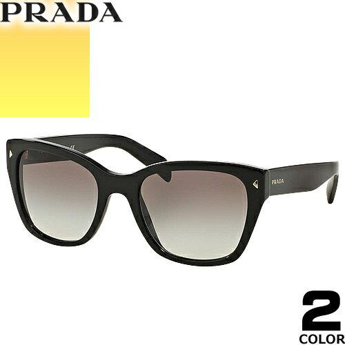プラダ PRADA サングラス 国内正規品 レディース メンズ uvカット 黒縁 薄い色 ブランド 紫外線 ケース付き ウェリントン 09SSF 2AU3D0 09SSF [S]
