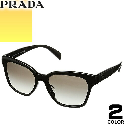 プラダ PRADA サングラス 国内正規品 レディース メンズ uvカット 黒縁 薄い色 ブランド 紫外線 ケース付き ウェリントン 11SSF 2AU5J2 1AB0A7 [S]