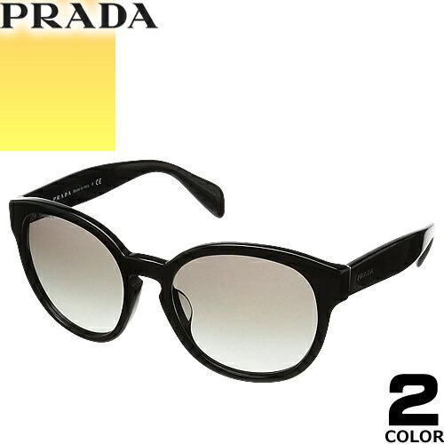 プラダ PRADA サングラス 国内正規品 レディース メンズ uvカット 黒縁 薄い色 ブランド 紫外線 ケース付き ボストン 18RSF 2AU3D0 1AB07 [S]