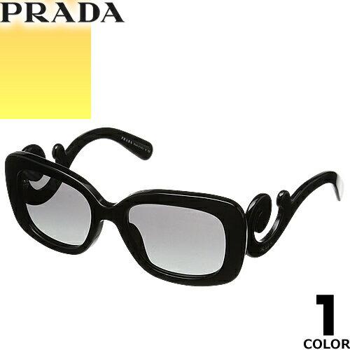 プラダ PRADA サングラス 国内正規品 レディース uvカット 黒縁 薄い色 ブランド 紫外線 ケース付き スクエア 27OSA 1AB3M1 [S]
