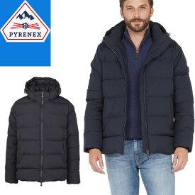 ピレネックス PYRENEX スプートニックジャケット ダウン ダウンジャケット メンズ 2020年秋冬新作 アウター フード付き ブランド 大きいサイズ 撥水 黒 ブラック SPOUTNIC MAT HMO009