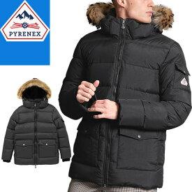 ピレネックス PYRENEX オーセンティックマットファー ダウン ダウンジャケット メンズ 2020年秋冬新作 ラクーンファー フード付き ブランド 大きいサイズ 撥水 黒 ブラック AUTHENTIC MAT FUR HMO012