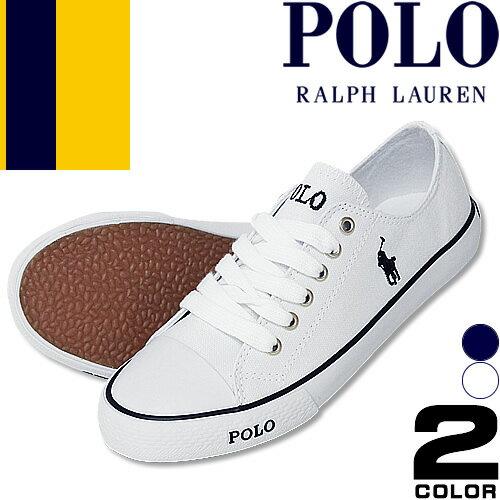 ポロ ラルフローレン Polo Ralph Lauren スニーカー レディース スリッポン 白 紺 ホワイト ネイビー キャンバス ファッション ママ おしゃれ Carson Lace DYLAND