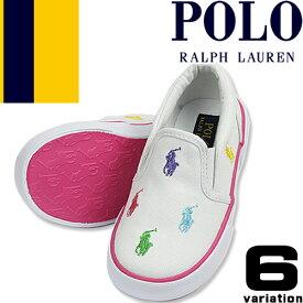 ポロ ラルフローレン スニーカー キッズ ベビー シューズ 子供靴 女の子 男の子 白 紺 ピンク スリッポン 13cm 15cm 16cm 出産祝い ブランド Polo Ralph Lauren BAL HARBOUR II BAL HARBOUR REPEAT [S]