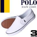 ラルフローレン スニーカー スリッポン レディース ホワイト ブラック キャンバス ファッション