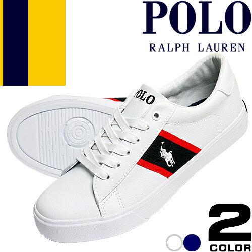 ポロ ラルフローレン スニーカー レディース 白 紺 ホワイト ネイビー 靴 ブランド シンプル おしゃれ かわいい ワンポイント Polo Ralph Lauren GEOFF