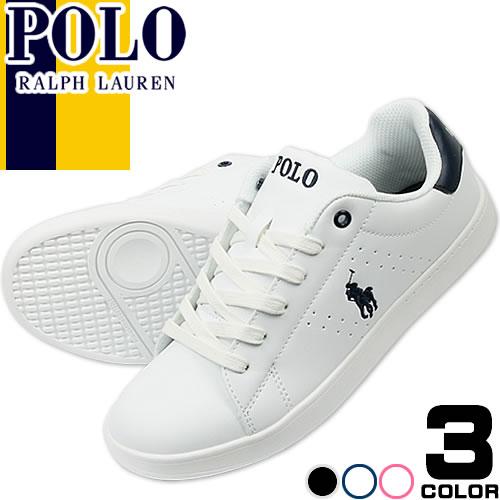 ポロ ラルフローレン Polo Ralph Lauren スニーカー レディース 白 紺 ホワイト ネイビー ファッション ママ おしゃれ BILTON QUINCEY COURT