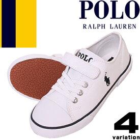 ポロ ラルフローレン スニーカー キッズ ベビー シューズ 子供靴 ジュニア 女の子 男の子 白 紺 赤 スリッポン マジックテープ 13cm 15cm 16cm Polo Ralph Lauren RFS10648 RFS10627 RFS10631 RFS10617