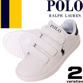 ポロ ラルフローレン スニーカー キッズ ベビー 子供靴 ジュニア 女の子 男の子 白 黒 ホワイト ブラック スリッポン 13cm 15cm 16cm Polo Ralph Lauren QUINCEY EZ RF100429 RF100430