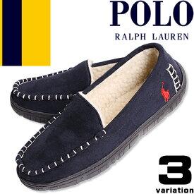 [最終SALE8,690円→3,990円] ポロ ラルフローレン モカシン スリッポン スリッパ ルームシューズ メンズ ファー ボア おしゃれ もこもこ ブランド Polo Ralph Lauren CHARLIE II