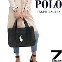 ポロ ラルフローレン Polo Ralph Lauren トートバッグ ロゴ刺繍 ビッグポニー キャンバス スクールトート ミディアム …