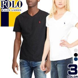 ポロ ラルフローレン Tシャツ Vネック メンズ レディース 半袖 ブランド おしゃれ ワンポイント ロゴ 綿100% 白 黒 紺 ホワイト ブラック ネイビー Polo Ralph Lauren [メール便発送]