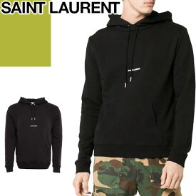 サンローラン パリ SAINT LAURENT PARIS パーカー スウェット トレーナー メンズ 2020年春夏新作 フーディー ブランド 大きいサイズ プルオーバー プリント 黒 ブラック 464581 YB2PG 1000 [S]