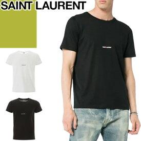 サンローラン パリ SAINT LAURENT PARIS Tシャツ 464572 YB2DQ 1000 9000 メンズ 半袖 2020年春夏新作 ブランド クルーネック 大きいサイズ 黒 白 ブラック ホワイト [ネコポス発送]
