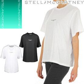 ステラマッカートニー Stella McCartney Tシャツ レディース 半袖 ブランド 大きいサイズ ロゴ カジュアル ゆったり 白 黒 ホワイト ブラック 511240 SMW21 [ゆうパケ発送]