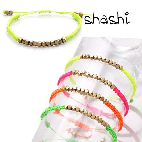 シャシ ブレスレット アンクレット シングル Shashi Neon Nugget Bracelet ワカミ wakami チャンルー CHAN LUU好きにも [メール便発送]