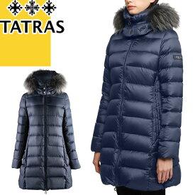タトラス コルマ TATRAS COLMA ダウン ダウンジャケット レディース ニットリブスリーブ ショート ブランド きれいめ 軽量 大きいサイズ 紺 ネイビー LTA20A4696