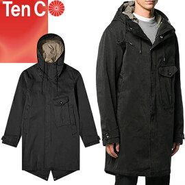 TenC(テンシー),CYCLONEPARKA(サイクロンパーカー),17CTCUK04058,ブラック,イタリア軍,ミルスペック同等,OJJ,超高密度ナイロンベンタイルミリクロス