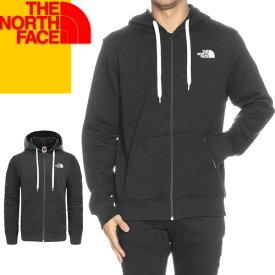 ノースフェイス パーカー ジップアップ スウェット メンズ ブランド 大きめ おしゃれ 冬 ロゴ 裏起毛 アウトドア 黒 ブラック グレー THE NORTH FACE NF0A3MB4 [S]