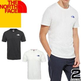 ノースフェイス THE NORTH FACE Tシャツ メンズ レディース 2020年春夏新作 半袖 ワンポイントロゴ アウトドア ブランド 大きいサイズ おしゃれ 白 黒 ホワイト ブラック SIMPLE DOME TEE 2TX5 JK3 FN4 [メール便発送]