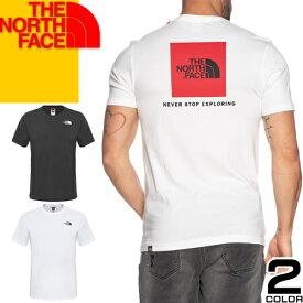 ノースフェイス THE NORTH FACE Tシャツ レッドボックス メンズ 大きいサイズ バックプリント ボックスロゴ スクエア ロゴ プリント ブランド 白 黒 ホワイト ブラック S/S REDBOX TEE NF0A2TX2 JK3 FN4 [メール便発送]