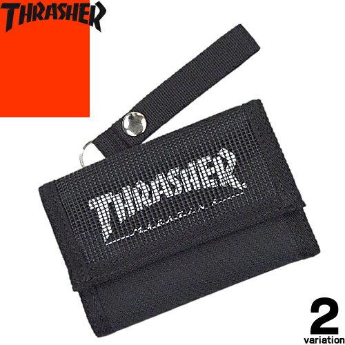 スラッシャー THRASHER THRSG-111 三つ折り財布 メンズ レディース ブランド コンパクト 黒 ウォレット 薄型 薄い シンプル [メール便発送]