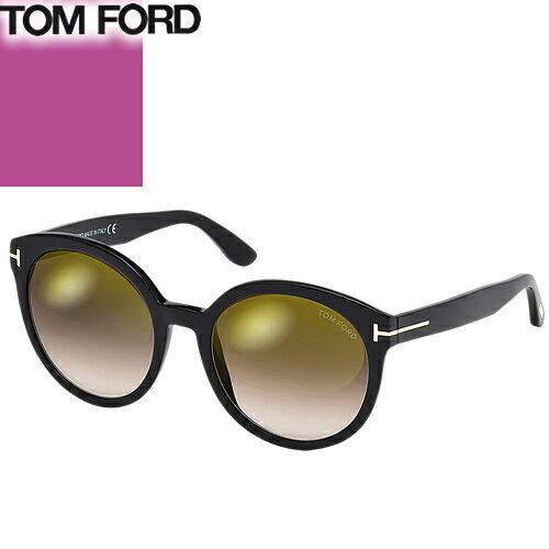 トムフォード TOM FORD サングラス メンズ レディース ブランド 丸 UVカット 薄い 色 紫外線対策 Philippa FT0503 [S]
