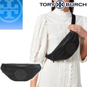 トリーバーチ TORY BURCH バッグ ウエストポーチ ウエストバッグ ボディバッグ レディース 2020年秋冬新作 エラ ナイロン ベルトバッグ ブランド きれいめ 斜めがけ 黒 ブラック ELLA BELT BAG 61060 [S