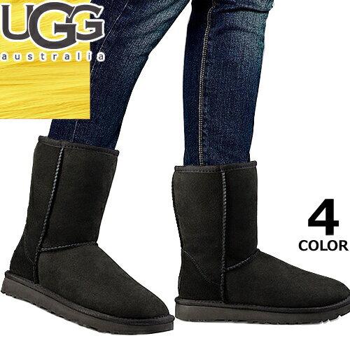 UGG アグ ムートンブーツ クラシック ショート ブーツ シープスキン ショート丈 メンズ ファー Classic Short 防寒 暖かい 雪 靴 正規品 5800