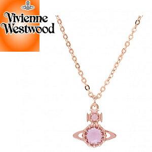 ヴィヴィアンウエストウッド ヴィヴィアン Vivienne Westwood ネックレス レディース ラティファ オーブ ブランド シンプル かわいい ピンクゴールド LATIFAH PENDANT 63020212 G109 [S]