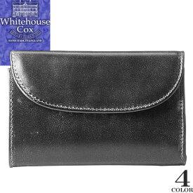 ホワイトハウスコックス Whitehouse Cox 財布 三つ折り財布 メンズ レディース 2020年春夏新作 ブライドルレザー 本革 ブランド 薄い コンパクト プレゼント 黒 ブラック 3 FOLD WALLET Bridle Leather S1112 [S]