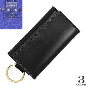 ホワイトハウスコックス Whitehouse Cox キーケース ウィズ リング メンズ レディース 2020年春夏新作 6連 ブライドルレザー 本革 ブランド 黒 ブラック KEY CASE WITH RING Bridle Leather S9692 [ゆうパケ発送]