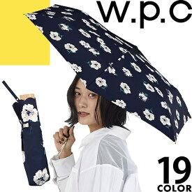 wpc w.p.c 折りたたみ傘 雨傘 2019年モデル 晴雨兼用 レディース 軽量 丈夫 撥水 uvカット かわいい おしゃれ ブランド 紫外線対策 花柄 50cm 6本骨 [メール便発送]