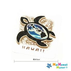 ハワイ ステッカー パラダイス ホヌ【ハワイアン雑貨】【ハワイ雑貨】【メール便対応可】サーフボード スノーボードステッカー