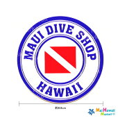 【ハワイ雑貨】【マウイダイバーステッカー】【限定】【ハワイステッカー】