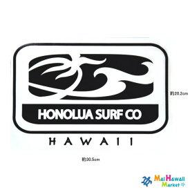 【1点もの!数限定】ハワイ ステッカー カッティングタイプHONOLUA SURF CO.(ホノルアサーフ)黒(大)【ハワイアン雑貨】【ハワイ雑貨】【メール便ではお届けできません】サーフボード スノーボードステッカー