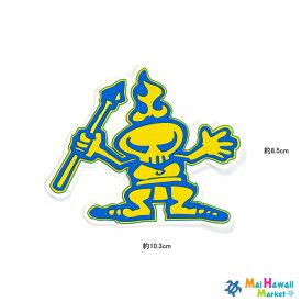 【1点もの! 数限定】ハワイ ステッカー サーフブランドTamba カウアイ ロゴマーク(黄・青)車 スーツケース 小物 サーフボード スノーボード かわいい かっこいい おしゃれ ステッカー