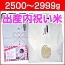 【新米】出産内祝い米 体重米[2500〜2999g]/送料無料 出産 内祝い 米 お返し 写真入りメッセージカード 新潟米